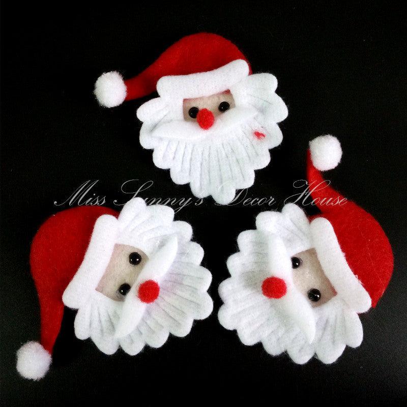 <20 PCS/LOT>Christmas Santa Claus decoration ornament merry christmas home decorations craft supplies
