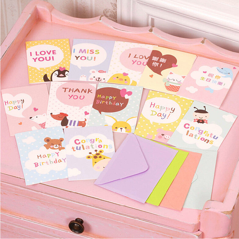 Cute Greeting Cards For Kidschildrenfriendsanimal Greeting Cards Fo