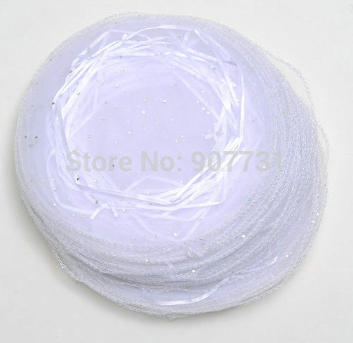Wholesale 400pcs 26cm/10inch diameter round organza bag wedding pouch gift bag sweet bag