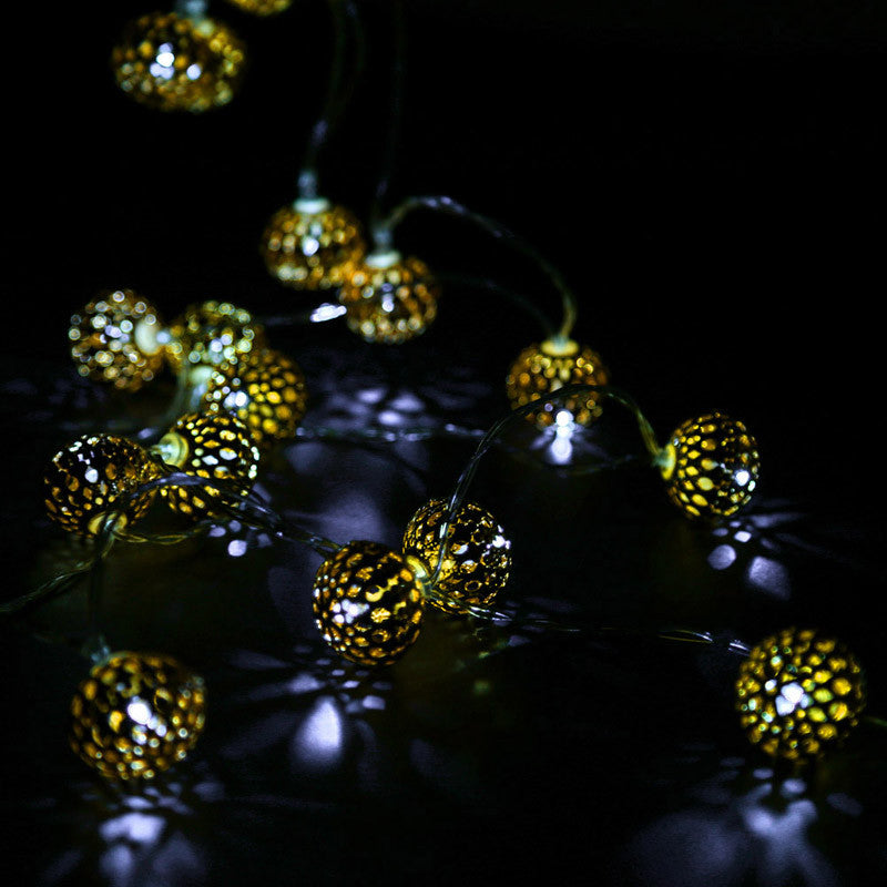 20-LED 2.8M Rattan Ball String Cell Lamp Fairy Lights Wedding Party Gold FEN#