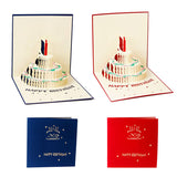3D Pop Up Greeting Card Handmade Happy Birthday Cake Day Thank You Postcard