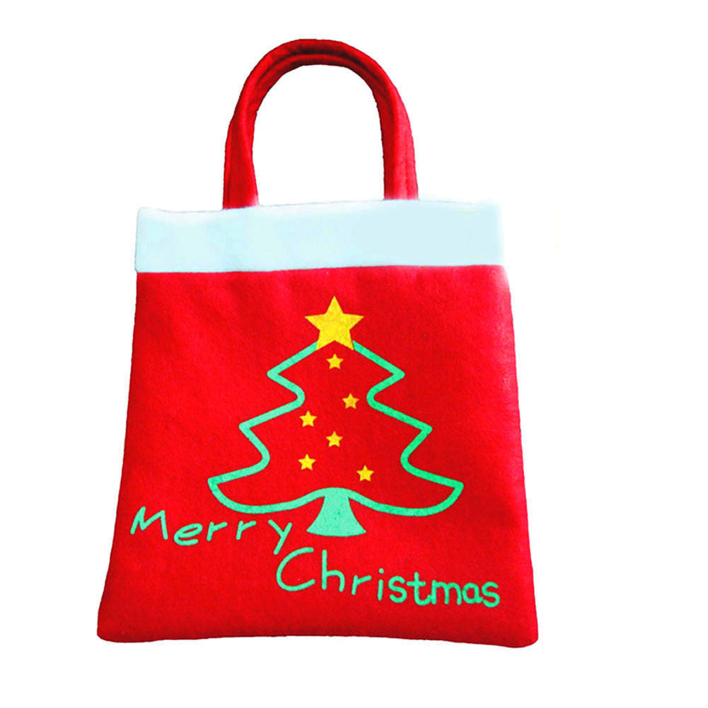 New Year 2016  Merry Christmas Tree Decoration Santa Claus Kids Candy Bag Home Party Decor Gift To Children High Quality