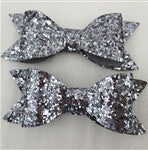 25Y41751  83*39*8mm sequins Hairpins Fashion Glitter Artificial Leather Bow Without Clips Trendy For Children Hair Headwear
