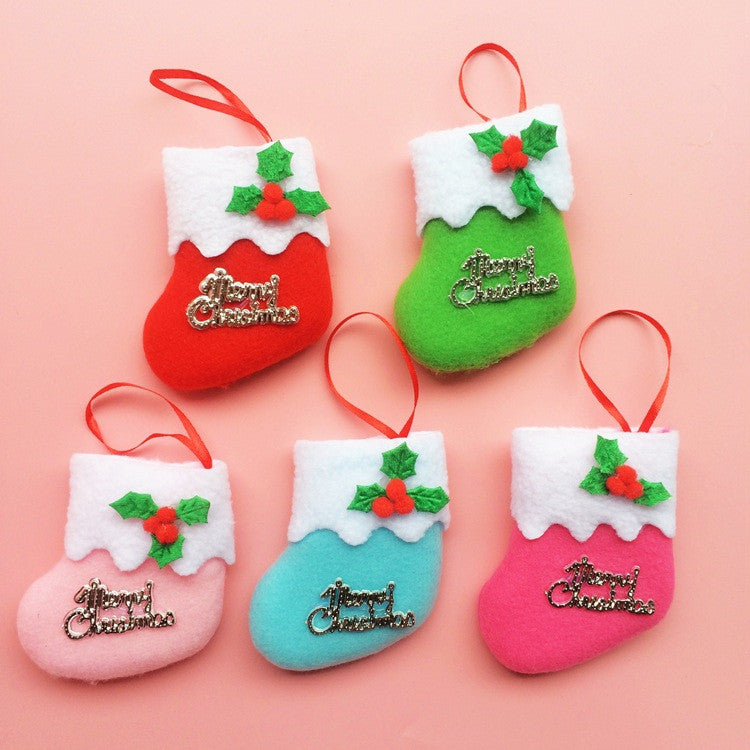 Christmas Tree Hanger Decoration Gift Hanging Stocks Xmas Decor Random