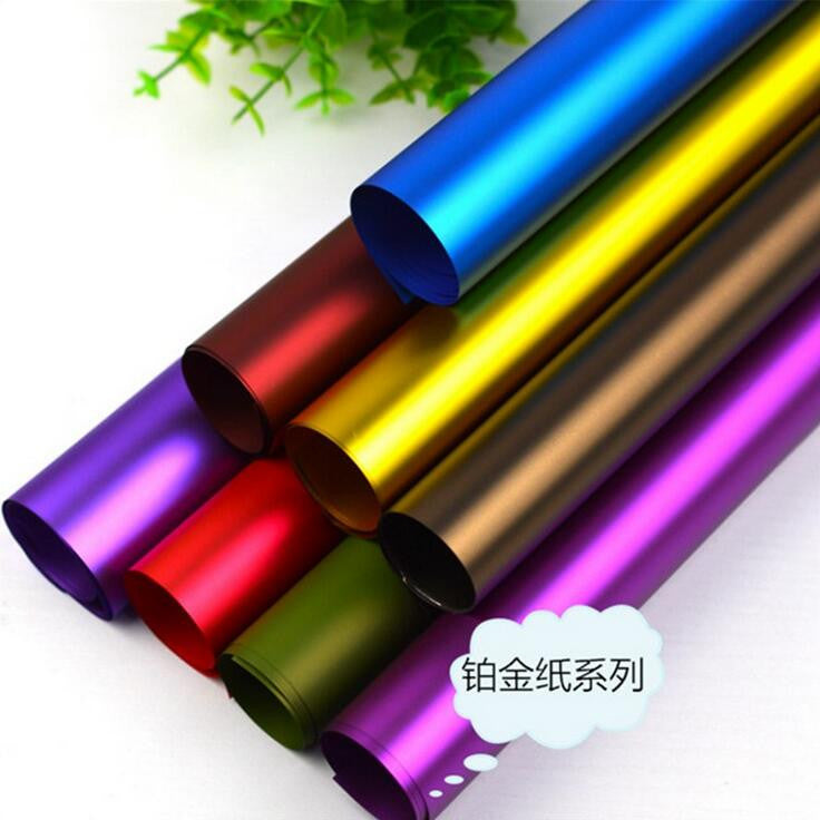 christmas gift wrap 20 PCS one lot 60*60cm The new solid color platinum paper High-grade flowers wrapping paper FD07