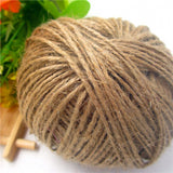 Natrual Colorful kraft Paper Hang Tags String Jute Cord Twine hemp Rope for Envelop Gift Box Wrapping,Wedding/Cake/Gift/ DIY