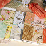New high quality vintage floral home decoration paper craft gift wrapping paper craft 3 designs 24sheets/book