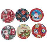 60pcs Christmas Plates Cup polka Paper plate Dinner Dishes for Birthday Wedding Party  Festival Tableware Supplies Decration