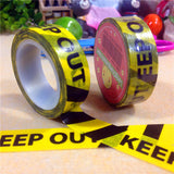 Keep Out Washi Adhesive DIY Scrapbooking Label Masking Stationery Office Stickers Self Adhesive Tapes