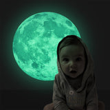 Fairy Novelty Luminous Night Moon Wall Sticker Glow in the Dark Great Gift and Home Decoration for Kids Bedroom Living Room