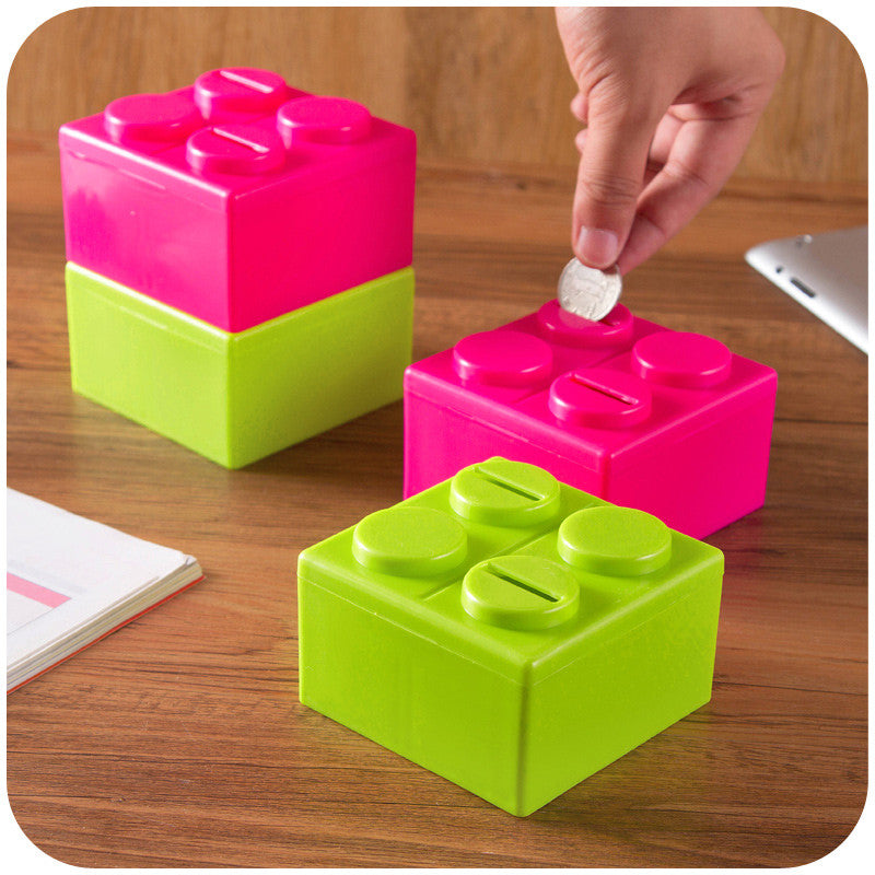 2015 fancy toy free combination plastic square money box coin bank piggy bank saving