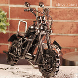 Free shippinjg Modern wrought iron crafts handmade personality metal model motorcycle Toys for Man Gift Business Gifts Home Deco