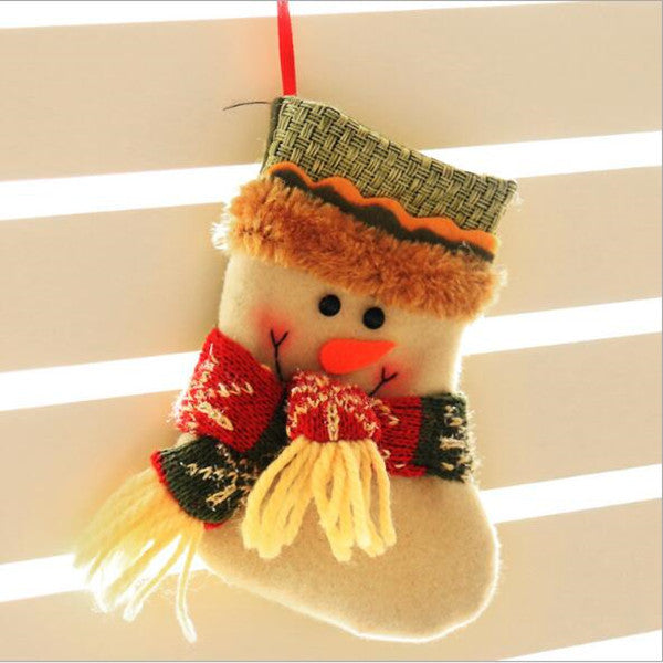 Lovely small Christmas socks Christmas decorations Children's Christmas decoration gift candy bag gift bag supplies