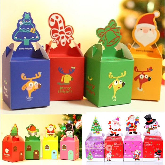12PCS Christmas Eve Apple Paper Packing Box Christmas Gift Box Christmas Decorations 2016 New Arrival