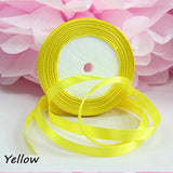 10pc Pretty Silk Satin Ribbon 10mm 25 Yards 22M Wedding Party Decoration Invitation Card Gift Wrapping Christmas Supplies riband