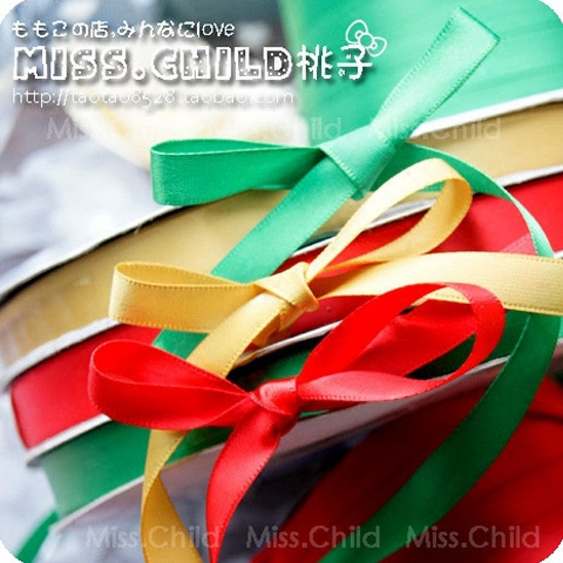 15meters/lot 12mm width 2 meters Wedding Party Festive Event Decoration Crafts Wrapping Sewing Christmas candy Gift Ribbon B070