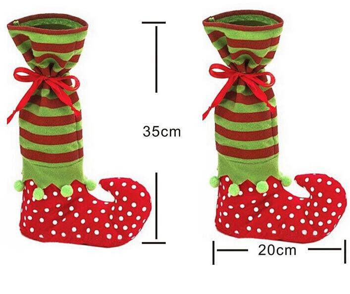 Christmas decorations party decorations 35*20 Christmas Long Elf candy socks / Christmas gifts bag