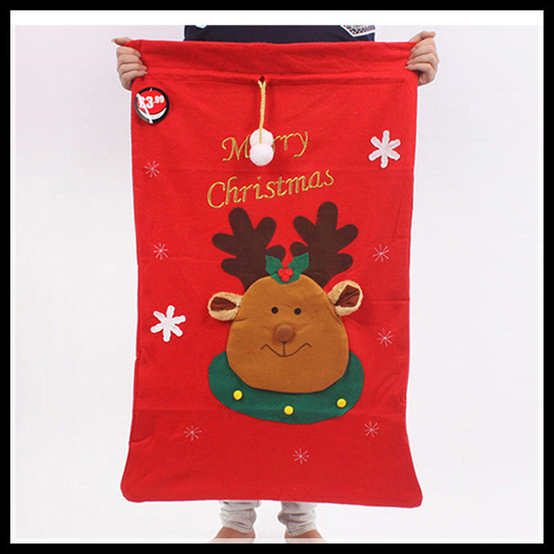 2016 Big Size Gift Bag Personalized Santa Christmas Gifts Sack Bags  Christmas Decoration Supplies