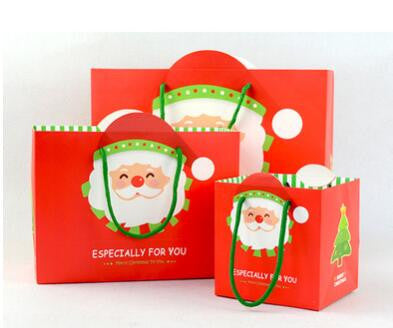 2016 new arrival Christmas paper gift bag Christmas Santa Claus paper bag red Xmas pouch gift decoration craft packaging bag