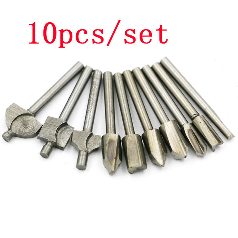 10pcs hss high-speed steel woodworking power trimmer  engraving machine pattern cutter milling cutter