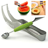 2 pcs/sets melon Cutter Knife Slicer melon baller spoon Watermelon Cutter Knife Slicer baller kitchen accessories cozinha gadget