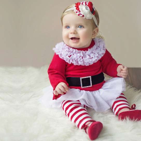 2016 new Santa Claus clothes girls dress+pants 2pcs suits children's Christmas gift baby girls clothing set for Christmas party