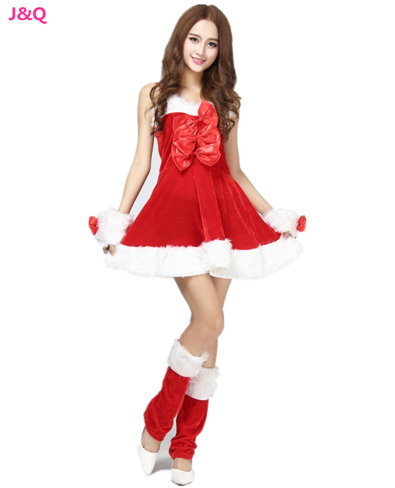 Christmas Uniform Suit Role Playing Santa Clause Disfraces Red Christmas Wear Costumes for Christmas party CK168303