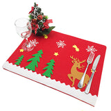 Christmas Placemats Non-Woven Santa Suit Placemat Bar Mat Accessories Kitchen Tools Table Runner Mats Cutlery Holder