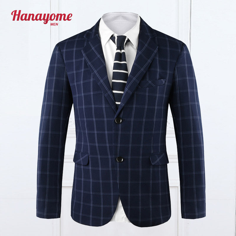 Men's Blazer Mixed Color Suit One Piece Jacket Male Coat Spring Autumn Mens Blazers Casual Regular Fit Grey Blazer Men SI2