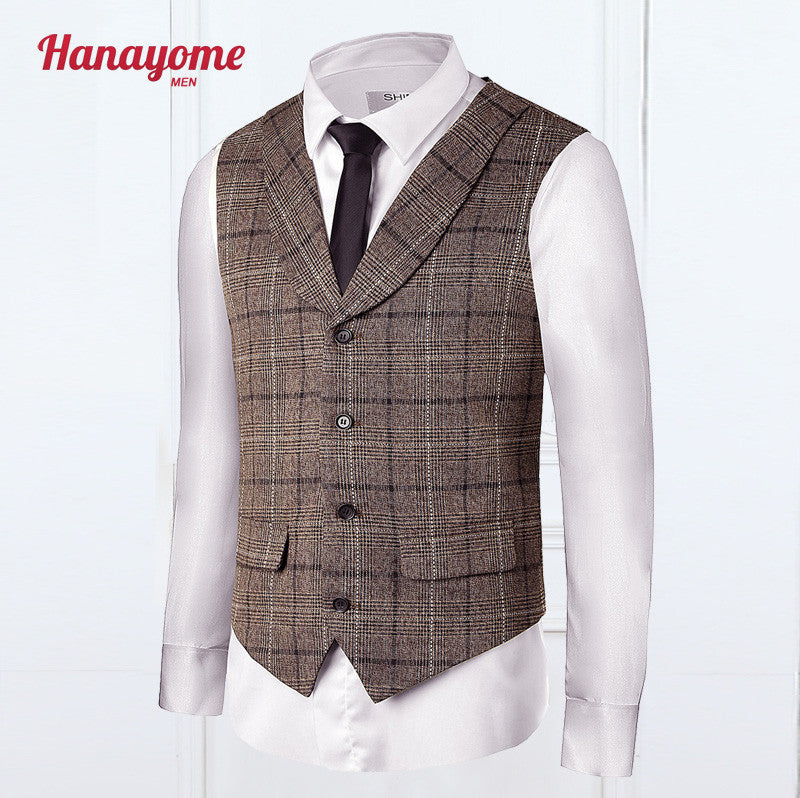 Mens Vest And Pants Set Double Breasted Tuxedos Vintage Suits Men Groomsmen Suit Cashmere Pleated Dress Men's Suit Formal VS30