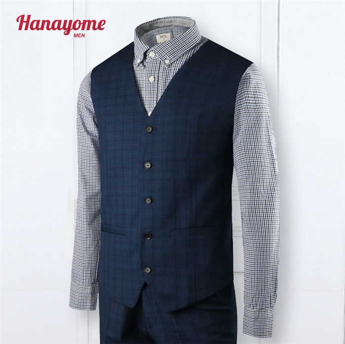 New Arrival Customized Men Tuxedos Blue Wedding Suits For Men 2 Piece Mens Suits 5 Buttons Groom Wedding Suits Vest Pants SI5