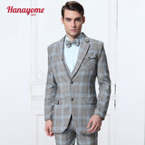 2016 Wool Arrival Men Suit Shiny Wedding Groom Suits Brand Fashion Tuxedo Slim Fit Business Suit 3 piece (Jacket+Pants+Vest)