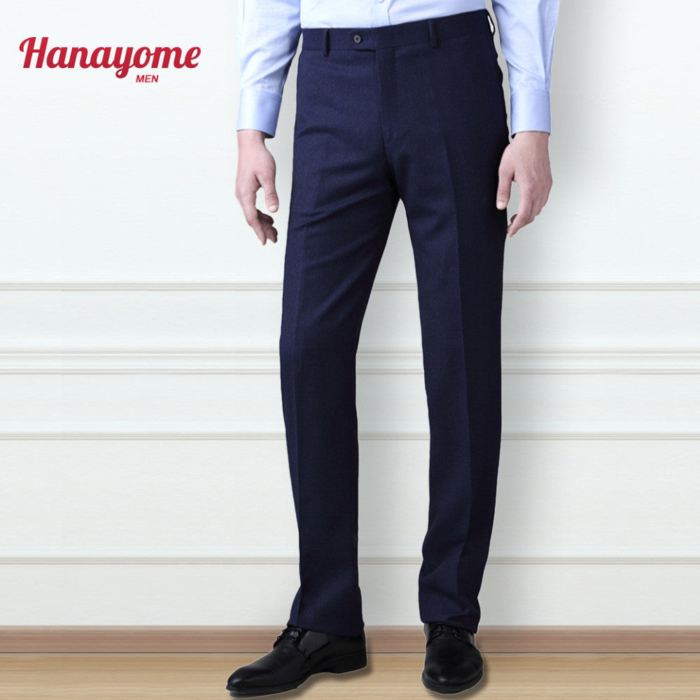 Dark Blue Pants For Male Men's Suit 1pc Set Slim Fit  New Style Populay Separate Pant Casual Pant Men's Pants Slim Trousers