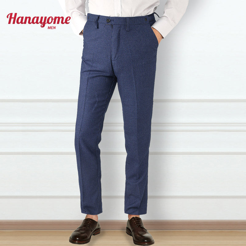 Men's Blue Pants Plaid Printed Slim Wear For Business Men Sleeveless Fit Jacket Dress Pant Waistcoat Custom Prom Tuxedos SI11