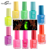 MASRO MAKEUP 20 Candy Colors Noctilucent Fluorescent gel Nail  Polish spray perfect Lacquer Glow In Dark Varnish Oil