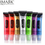 Imagic Neon Color Face Body Painting Makeup UV Flash Temporary Art Tattoo Paint Shining Run Glow In Dark Paint Fluorescent Oil