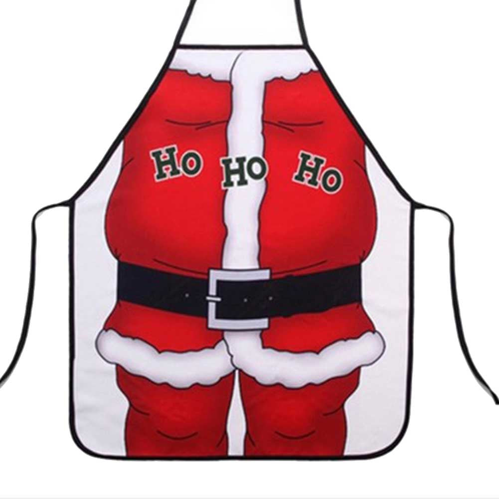 50x70cm Festive Christmas Apron Santa Xmas Kitchenware Cook Funny Party