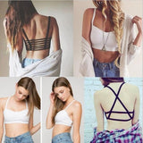 HOT!!!2016 New Fashion Hollow Out stripe Camis Women tops Bra Crop Top Tank Beach Sport Vest Sexy