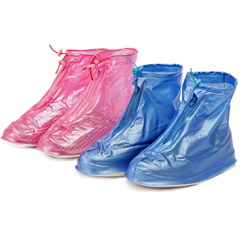 1 pairs reusable Rain shoes cover Women/men thicken waterproof Boots Cycle Rain Flat Slip-resistant Overshoes Rainwear
