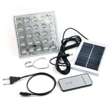 25LED Solar Camping Light Solar multifunction remote control Solar led spotlight Tent Light With AC Charger