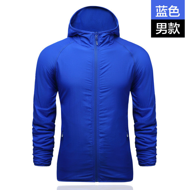 2016 Fashion Hot Sale Hood Men Jacket UV Protection Outwear Men Autumn Jacket Size L-4XL