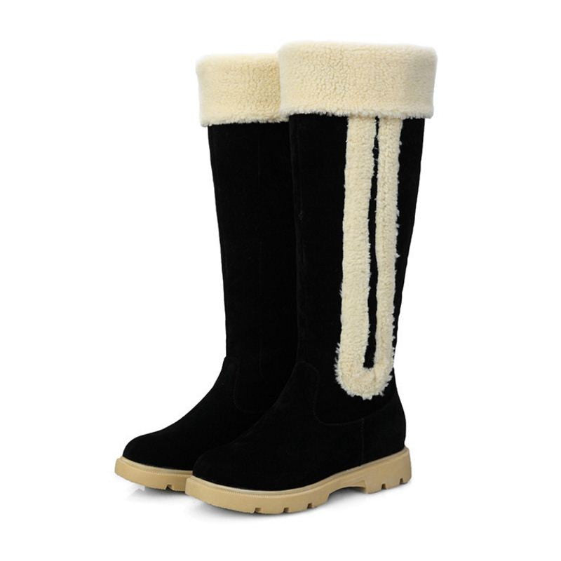 Size 33-42 New Women Boots Russia Keep Warm Outdoor Riding Boots Women's Fur Boots Winter Over Knee Long Snow Boots Shoes