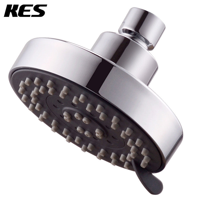 KES J333 Showering Replacement 4-Inch Shower Head Fixed Mount FIVE Function, Polished Chrome