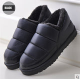 2016 new winter boots women and men waterproof boots solid colors unisex winter snow boots flat slip-on soft cotton warm shoes