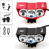 Free shipping 6000 Lumen 3x CREE XM-L U2 LED Head Front Bicycle bike HeadLight Lamp Light Headlamp 6400mAh Battery with Charger