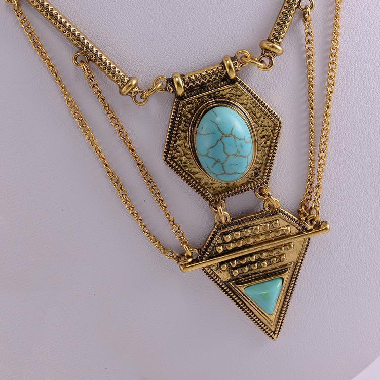 2 colors Wholesale fashion tassle multilayer necklace & pendant collar choker chunky chain statement necklace
