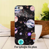 Marble Hrt universe earth moon star sky Hot selling fashion design skin thin pc cell For case iPhone 6plus 6s plus