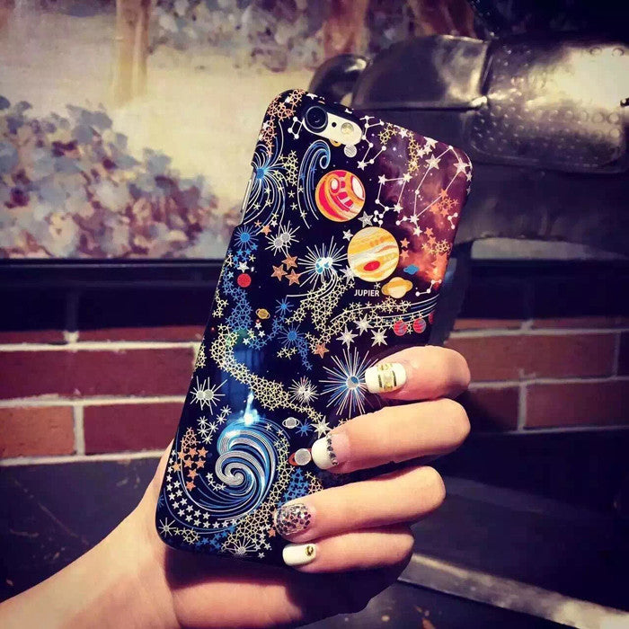 2015 New Fashion Charming Night Sky Stars TPU Case Cover For Iphone 6 6plus