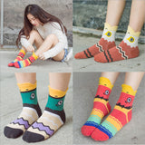 Free shipping New Lovely Catoon Fish Series Warm Cotton Women's socks