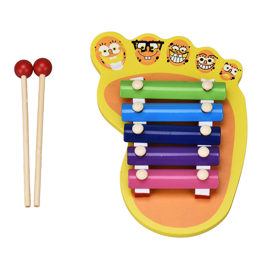 2016 Fashion Kid Baby Wood Musical Instrument 5-Note Xylophone Toy Wisdom Development SEP05